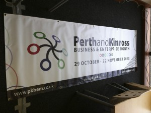 Perth and Kinross Business and Enterprise Month - Event banner