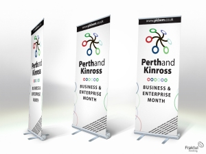 Perth and Kinross Business and Enterprise Month - Pop up banner mock ups