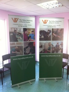 Image of two Tay valley Vets - Pop up banners in the surgery